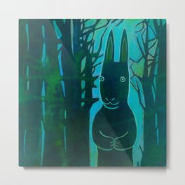 Rabbit in the Woods Metal Print