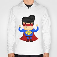 superhero Hoodies featuring Superhero by Inkley