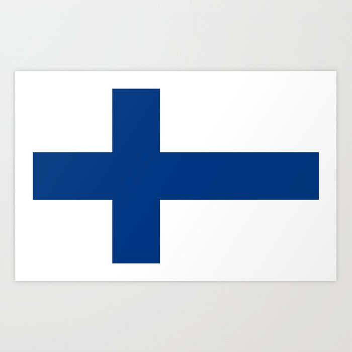 National flag of Finland Kunstdrucke