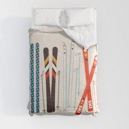 Retro Ski Illustration Comforters