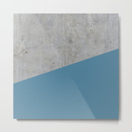 Concrete and Niagara Color Metal Print
