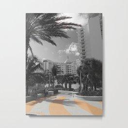 Miami Days photography art Metal Print