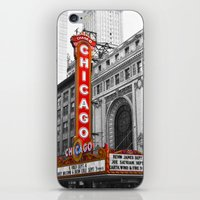 theater iPhone & iPod Skins featuring Chicago Theater by Chris Martin