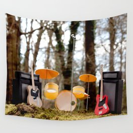 If a band plays in the forest ...... Wall Tapestry