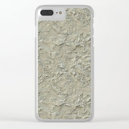 Rough Plastering Texture Clear iPhone Case