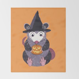 Halloween Friends Throw Blanket