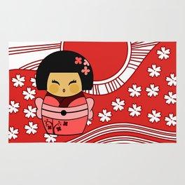 Kokeshi Sakura Rug