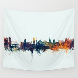 Newcastle England Skyline Wall Tapestry