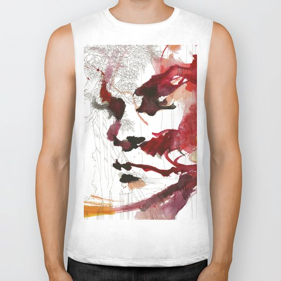 I'll give some burning colours to your white forest Biker Tank