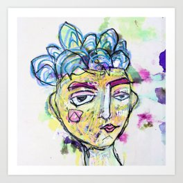 She is imperfect, but she tries Art Print