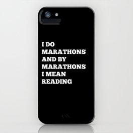 Reading Marathon iPhone Case