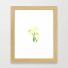flora series iv Framed Art Print