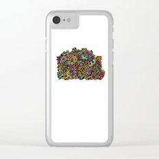 Doodle Machine Clear iPhone Case