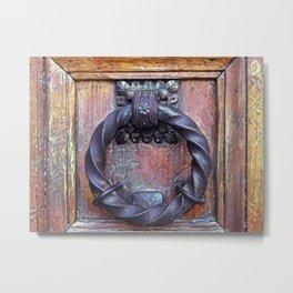 Venetian Door Knocker Metal Print