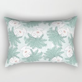 Fern-tastic Girls in Sage Green Rectangular Pillow