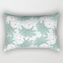 Fern-tastic Girls in Sage Green Rectangular Pillow
