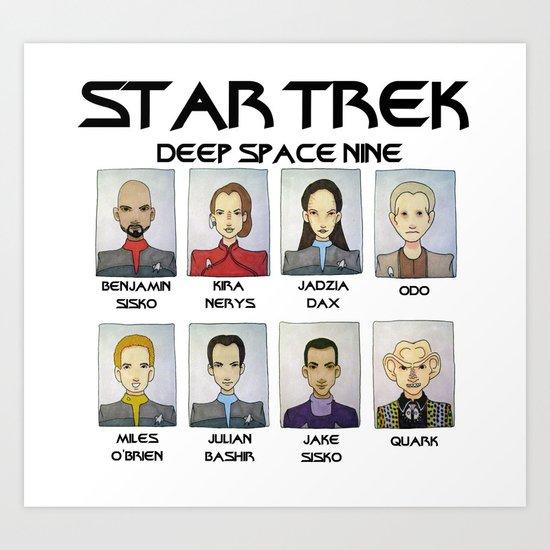 STAR TREK DS9 Art Print