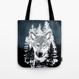 Forest Wolf Art Tote Bag