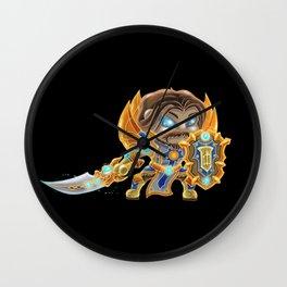 Wow Chibi Paladin I Wall Clock