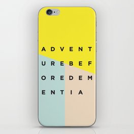 Adventure Before Dementia iPhone Skin