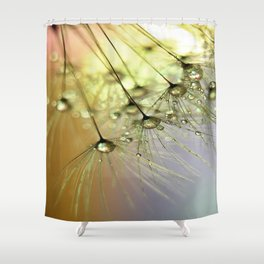Dandelion & Droplets Shower Curtain