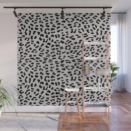 Grey Leopard Skin Wall Mural
