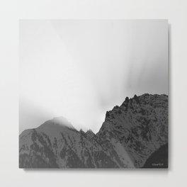 Sunrise black & white Metal Print
