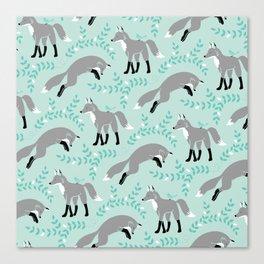 Socks the Fox - Dusk Canvas Print