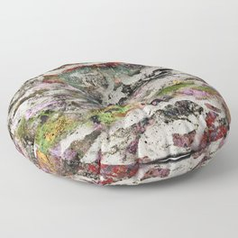 Abstract with Leaf Floor Pillow