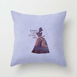 """""""A Dream Is A Wish Your Heart Makes"""" Cinderella Inspired Throw Pillow"""