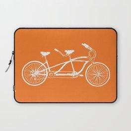 Tandem Bike Orange Laptop Sleeve