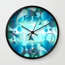 Dolphin Bubbles Wall Clock