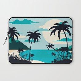 Coastal Blue Tropical Island  Laptop Sleeve