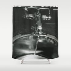 Funeral Sink Shower Curtain