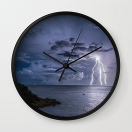 Lightning Strikes Wall Clock