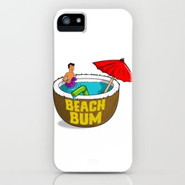 King of the Beach Bum Hill iPhone Case