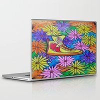 sneaker Laptop & iPad Skins featuring SNEAKER OF PEACE AND LOVE by Manuel Estrela 113 Art Miami