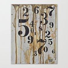 Numeric Values: Crude Figures Canvas Print