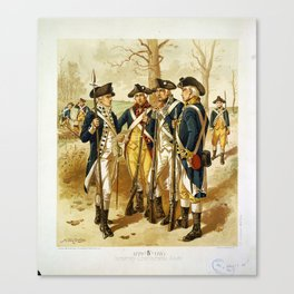 Infantry: Continental Army 1779-1783 by H.A. Ogden (1879) Canvas Print