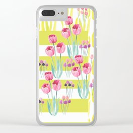 Tulips with yellow stripes Clear iPhone Case