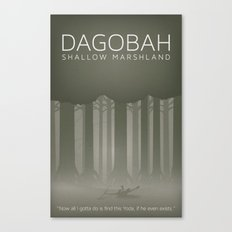 Star Wars Dagobah Canvas Print