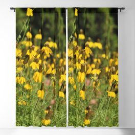 Yellow Flowers Blackout Curtain