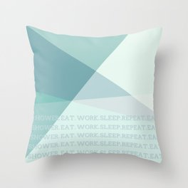Green Geometric Artwork  Throw Pillow