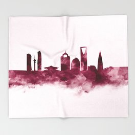 Riyadh Skyline Throw Blanket
