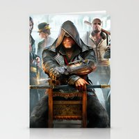 assassins creed Stationery Cards featuring Assassins Creed by Tom Lee