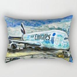 Emirates A380 Airbus Art Rectangular Pillow