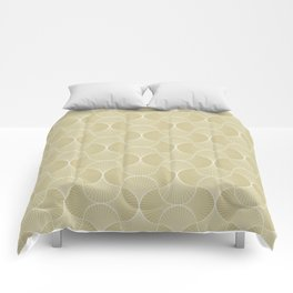 Scandinavian Floral - Art Deco Geometric Shapes Comforters