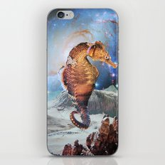 Seahorse in Space iPhone & iPod Skin