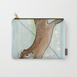 Otter Drawing - Without The Computer Carry-All Pouch