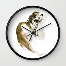 Totem: Eurasian River Otter (c) 2017 Wall Clock